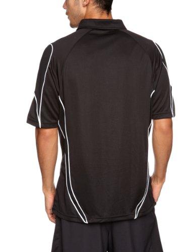 Kooga Rugby Herren Poloshirt Tech Teamwear schwarz / weiß