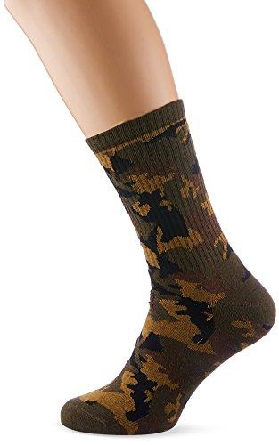 Urban Classics Herren Socken Camo 2-Pack, Mehrfarbig (Wood Camo 00396), 39/42 (Socken Camo)