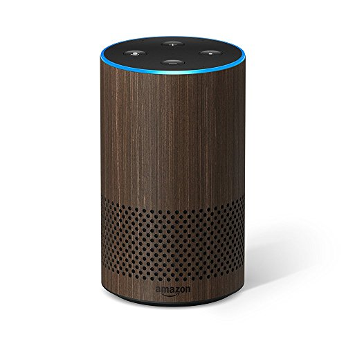 Amazon Echo (2. Gen.), Intelligenter Lautsprecher mit Alexa, Nuss Optik