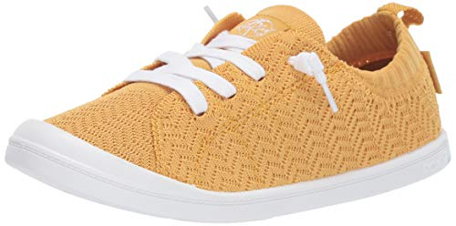 Roxy Damen Bayshore Knit Slip On Sneaker Shoe Turnschuh, Yellow Tone, 40 EU (Sneaker Roxy Von)