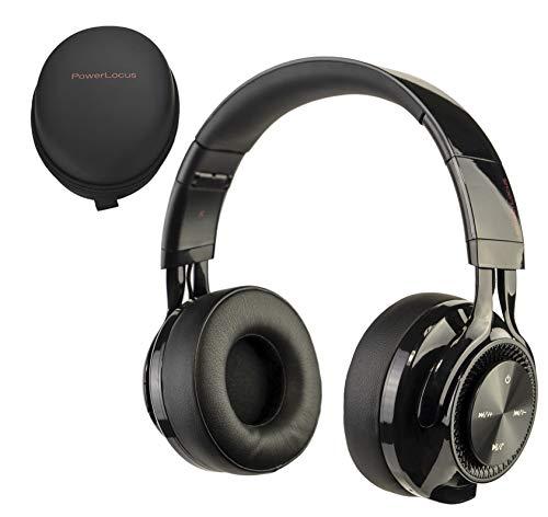 PowerLocus Cuffie Bluetooth Senza Fili Over-Ear, [Bluetooth 5.0,Autonomia 26 Ore] Cuffie Chiuse Wireless, Auriculari Bluetooth Pieghevole, Cuffie Stereo con Microfono...