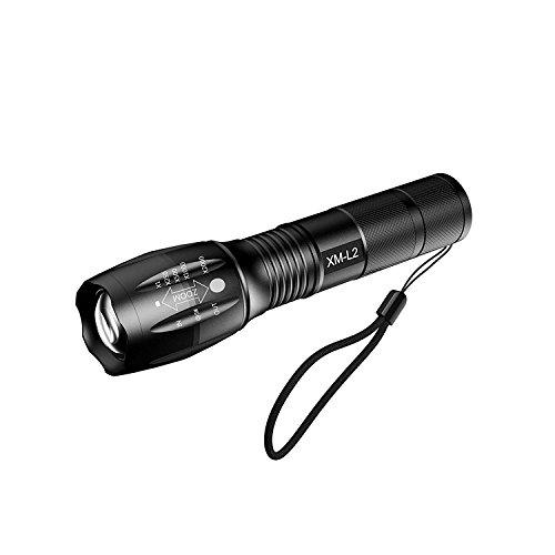 Myhonour LED Taschenlampe Tragbarer Zoombar Superhelle 1000 Lumen CREE LED Taschenlampe,CREE XM-L2, 5 Modis Einstellbar, Wasserdicht Taschenlampen für Outdoor - Betrieb Leben Solide