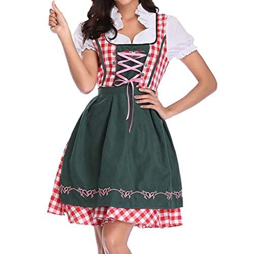 Cuteelf Frauen Oktoberfest Kleid Bayerisches Bierfest Cosplay Kostüm Oktoberfest Dienstmädchen Kostüm Kostüm Sexy Pastoral Wind Puff Rock Taille Kleines Fass Bierfest Leistung