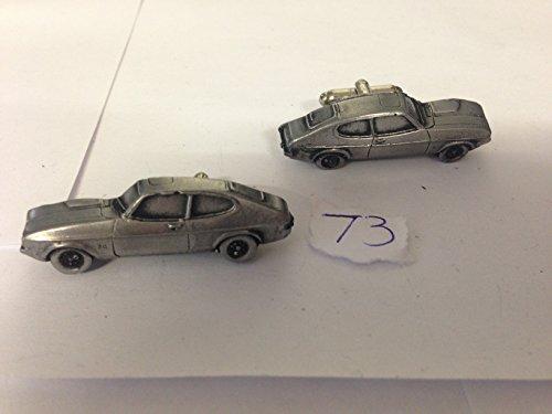 Cuff Capri (Ford Capri Mk2 3D-Manschettenknöpfe Zinn-Manschettenknöpfe Oldtimer ref73)