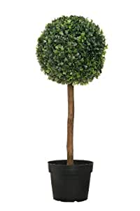 buchsbaum k nstlich deko h he 60 cm mit topf buxus buchsbaumkugel. Black Bedroom Furniture Sets. Home Design Ideas