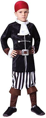 Jungen Scurvy Piraten Kapitän Party Welttag des Buches Woche Halloween Karneval Kostüm Verkleidung Outfit 4-12 Jahre - 7-9 (Davy Kinder Kostüm Jones)