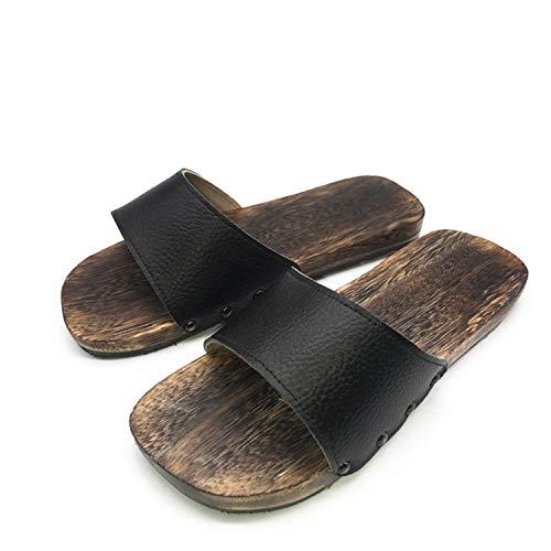 Functionaryb Sommer Sandalen Männer Japanische Holzsandalen Hausschuhe Clogs Schuhe rutschfeste Flache Hausschuhe Badezimmer - Asiatische Badezimmer