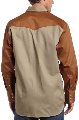 Carhartt Herren Fort Leicht Chambray Knopfleiste Relaxed Fit LS Shirt S202 Khaki/Carhartt® Brown