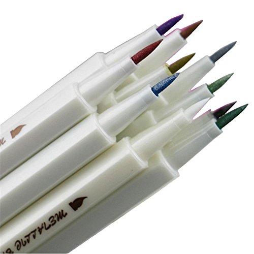 Metallic Marker Stifte, farbige Permanent Marker Stifte für Grußkarte Geschenk Valentinstag Tag Karten DIY Fotoalbum schwarz Papier Glas Malerei Material Holz, 10Stück, mit verschiedenen Farbe, durch AOLVO