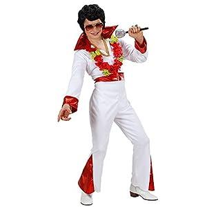 WIDMANN Sancto Rey de los niños del Rock N Roll de Vestuario Grandes 11-13 años (158cm) para 70 Elvis Vegas Vestido