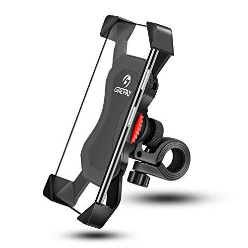 Grefay Fahrrad Handyhalterung Universal Handy Halterung Motorrad Lenker Mit 360 Drehen Für 3,5-6,5 Zoll Smartphone