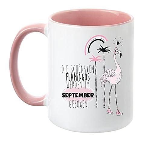 TassenTicker® - ''Die schönsten Flamingos werden im September geboren'' -