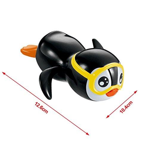 Baby Badespielzeug Hirolan Baden Spielzeug Geschenk Uhrwerk Wind Oben Schwimmen Pinguin Geschenk Reihe Float Pool Landen Badewanne Süß Schwimmen Spielzeug Für Die Jungen Mädchen (Schwarz, 12.6*10.4cm) (Langsam, Hand Mixer)