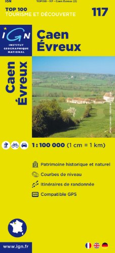 TOP100117 CAEN/EVREUX 1/100.000 par IGN