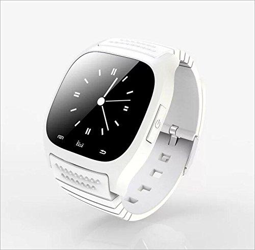 Human Smart Watch M26 Bluetooth Uhr Telefon Leben Wasserdicht,White
