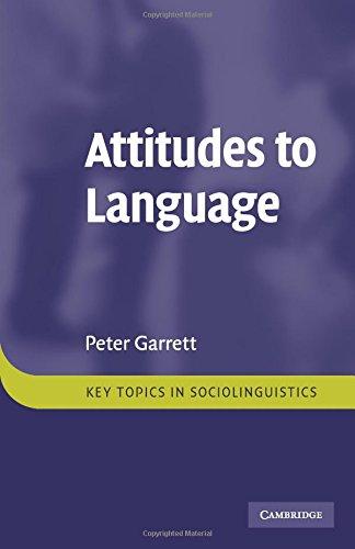 Attitudes to Language Paperback (Key Topics in Sociolinguistics) por Garrett
