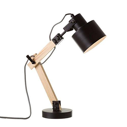 Lámpara Flexo Madera Negra diseño Industrial salón