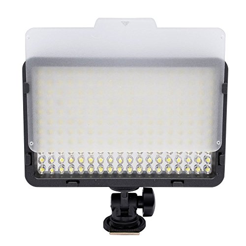 Powerpak-Led-168-A-Metal-Hot-Shoe-Mount-LED-Dimmable-Ultra-High-Power-Panel-Digital-Camera-Camcorder-Video-Light-LED-Light-for-Canon-Nikon-Pentax-PanasonicSONY-Samsung-and-Olympus-Digital-SLR-Cameras