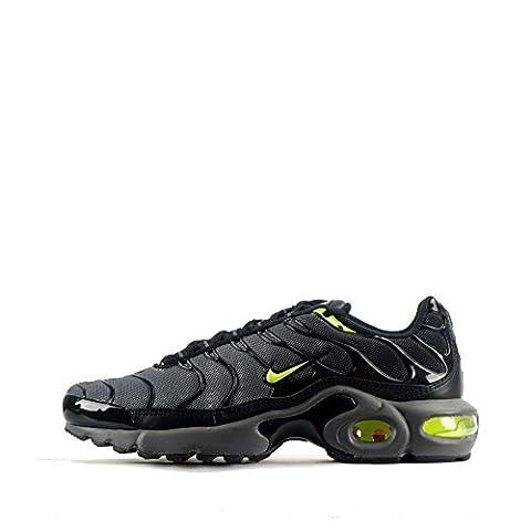Nike Juniors - Tuned 1 Air Max Plus TN - Gris Volt - 655020-079 - Gris Volt, Rouge, 3.5 UK / 36 EU / 4Y