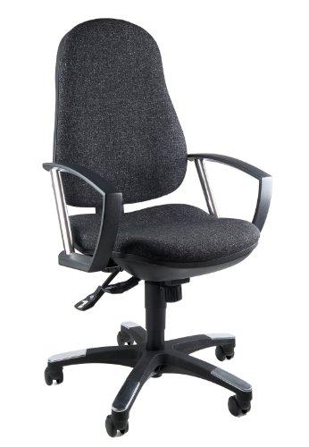 Topstar 9020AG22, Trend SY 10, Bürostuhl, Schreibtischstuhl, ergonomisch, mit Armlehnen, Bezugsstoff anthrazit -