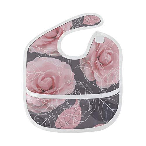 Zemivs Glorious Lady Camellia Benutzerdefinierte Weiche Wasserdichte Fleck Geruchsresistent Baby Fütterung Dribble Sabber Lätzchen Spucktücher Für Kleinkind Insgesamt Für 6-24 Monate Kind Geschenk