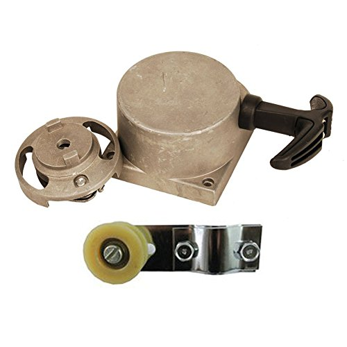 OuyFilters Pulley Chain Tensioner Bracket with Alloy Pull Start Starter for 49cc 50cc 60cc 70cc 80cc 2-stroke Engine Motorized Bicycle Bike