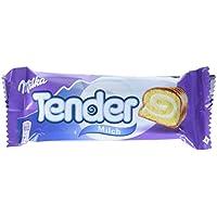 Milka Tender Milch - Biskuit-Rolle mit Milchcrèmefüllung und Vollmilchschokolade - Thekendisplay - 21 x 37g