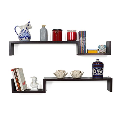 Forzza Cooper Wall Shelf (Matt Finish, Wenge)