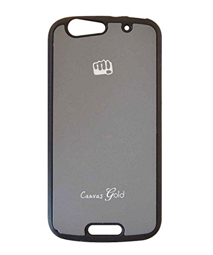 COVERNEW Back Cover for Micromax A300 Canvas Gold-Grey  available at amazon for Rs.199
