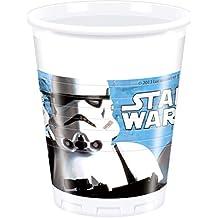 8 vasos * STAR WARS II * para la fiesta y el cumpleaños // Procos 841 464 // cumpleaños de los niños taza KidsFun Partido Set Fete tazas decorativas Espacio lema extranjero Lucas