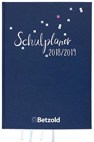 Betzold 757469 - Design-Schulplaner 2018/2019 Hardcover, A4 plus - Lehrerkalender Jahresplaner Lehrer Organisation