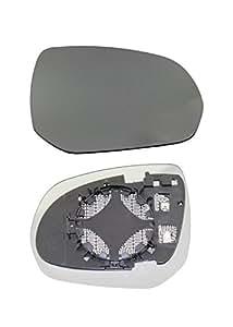 DoctorAuto DR165939 Miroir Glace Verre de Rétroviseur Extérieur Avec le Support en Plastique Droite Chauffante
