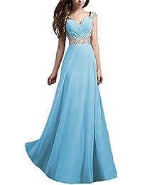 4234c7562df1 Donna Vestiti Da Cerimonia Abiti Da Matrimonio Lunghi Elegante Estive  Vintage Splicing Paillettes Ragazze Vestitini Da