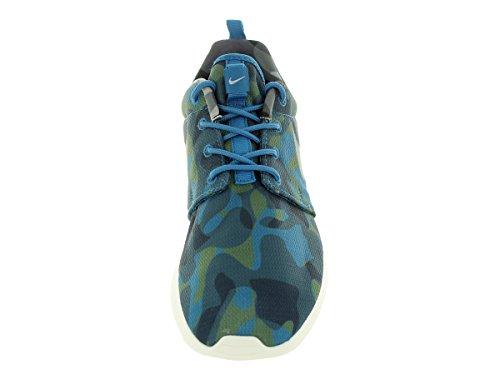 Nike Wmns Roshe One Print, Baskets Basses Femme, M bleu- vert