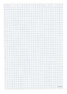 Herlitz 10408151 Lot de 5 blocs de 20 feuilles quadrillées pour tableau de conférence 68 x 99 cm