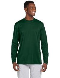 Harriton mens 4.2 oz. Athletic Sport Long-Sleeve T-Shirt(M320L) -  Green -