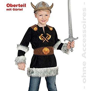 Gurimo-tex Kinder-Kostüm Wikinger Oberteil 128 (101046) ()