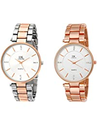 IIk Collection Watches Quartz Movement Analogue Multicolour Dial Women's Combo Wrist Watch