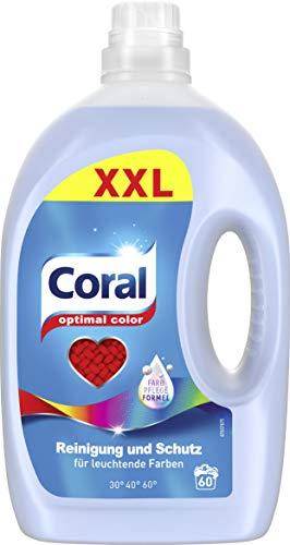 Coral Waschmittel Optimal Color flüssig, 60 WL