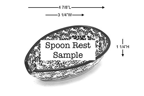 Polish Pottery Spoon Rest – Silver Lace