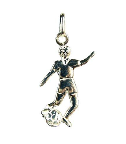 HAAC Fußballer Anhänger Echt Sterling Silber 25 mm x 15 mm