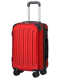 "T-LoVendo TLVMA-RED Maleta de Cabina 4 Ruedas Viaje Semirigida - Roja, Rojo, 20"" (40L), aprox. 55x36x21cm"