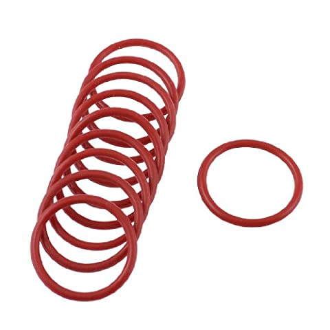 10 Pcs Red Rubber Oil Filter Seal O Rings Gaskets 25mm x 21mm x 2mm