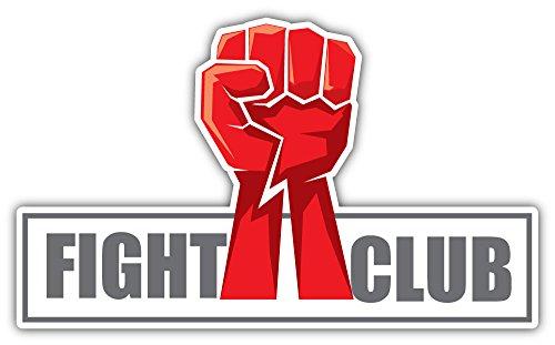 SkyBug Fight Club Emblem Bumper Sticker Vinyl Art Decal for Car Truck Van Window Bike Laptop (Club-car-computer)