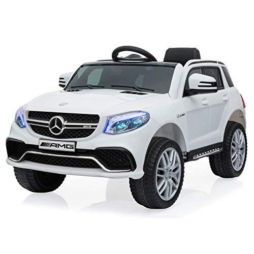 Happy Garden Voiture électrique Mercedes GLE AMG - Blanche