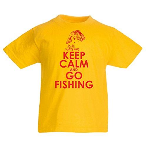 Camisas para niños Ropa de Pesca, Regalo Gracioso Pescador, Citas de Humor (3-4 Years Amarillo