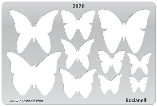 15cm x 10cm Normographe Plastique Transparent Trace Gabarit de Dessin Conception Graphique Art Artisanat Fabrication Bijoux Illustration - Papillons