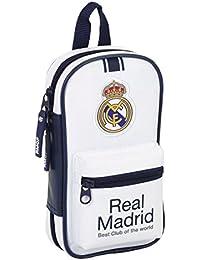 Real Madrid Plumier con 4 portatodos llenos, 1ª equipacion Temporada 2016/2017 (SAFTA