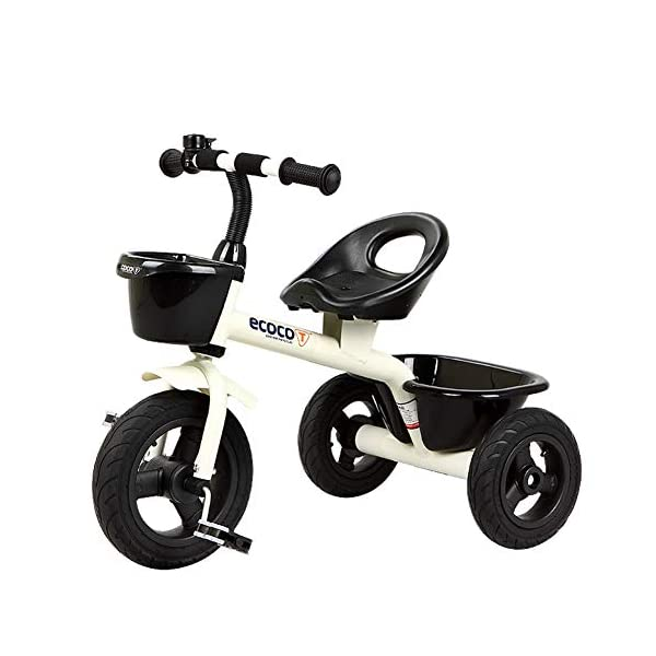 GSDZSY - Children Tricycle Kids First Bike, With Two Storage Baskets, Non-inflatable Rubber Wheels, With Bells,Safe And Reliable,2-5 Years Old,A GSDZSY  1