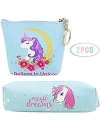 JUSTIDEA 1 monedero Unicornio Magic de 1 unicornio estuche de lápices para niños bolsa de herramientas